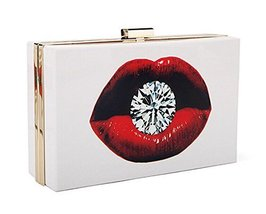 [Sexy Lips] Creative Acrylic Clutch Handbags Fashion Evening Bags Party Bag