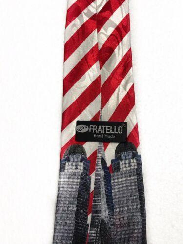 Fratello World Trade Center Twin Towns Novelty Tie Necktie image 4