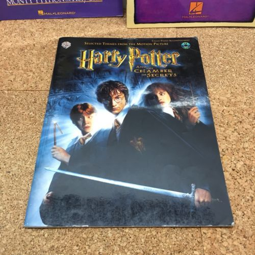 PIANO BOOKS LOT OF 3, KIDS' STAGE & SCEEEN, MONTY PYTHON'S, HARRY POTTER,