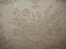 Ivory Brocade Wheat Woven Floral Upholstery Fabric, 10-29-01-0211 - $11.49