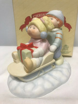 1984 Cabbage Patch Kids Christmas Sleigh Ride Figurine #5400 B21 - $9.06