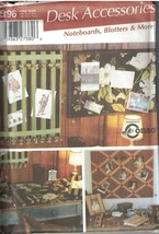 5196 Simplicity Sewing Pattern CRAFT Desk Accessories UNCUT Blotter Cork Board - $6.92