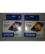 Lot of 2 S020089 S191089 Genuine Epson 3-Color Ink Color 400 600 600Q 74... - $12.86