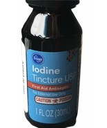 IODINE tincture First Aid Water Purifier Infection Fighter Kroger Brand NEW - $21.45
