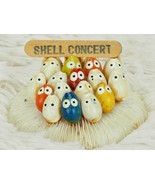 """Shell Concert"" Small Island Souvenir Hand Painted 3"" Across Sea Shells - $23.76"