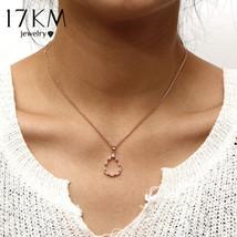 17KM® Vintage Water Drop Pendant Necklace Women Chains Simple Rose Gold ... - $5.47