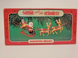 Vintage 1986 Hallmark Keepsake Ornament Santa and His Reindeer  NIB - $15.79