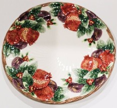 """1993 Fitz and Floyd Winter Fruit 12"""" Chop Plate / Round Platter - $47.50"""