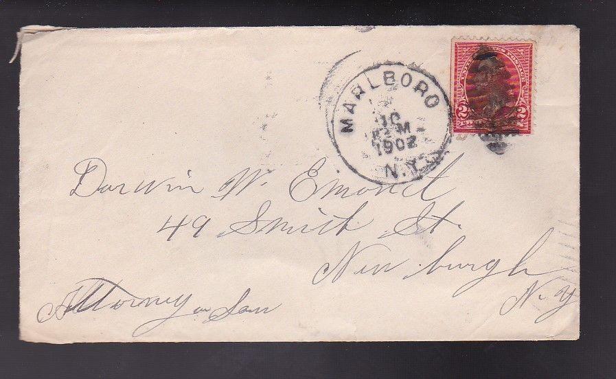 MARLBORO, NY TO NEWBURGH, NY JULY 10 1902