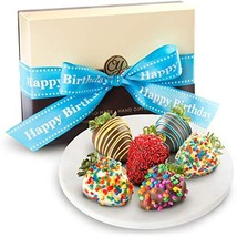 Golden State Fruit 6 Piece Happy Birthday Chocolate Covered Strawberries - $37.45