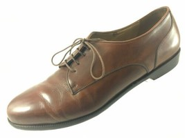SH2 Bragano Cole Haan 12D Brown Leather Plain Toe Oxford Shoes Made In I... - $26.13