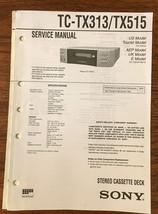 Sony TC-TX313 TC-TX515 Cassette Service Manual *Original* - $13.08