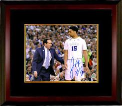 Jahlil Okafor signed Duke Blue Devils 16x20 Photo #15 Custom Framed (wit... - $136.95