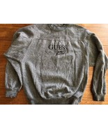 Vintage 90s GUESS Spellout Sweatshirt Made in USA Super Sportswear Large... - $30.58