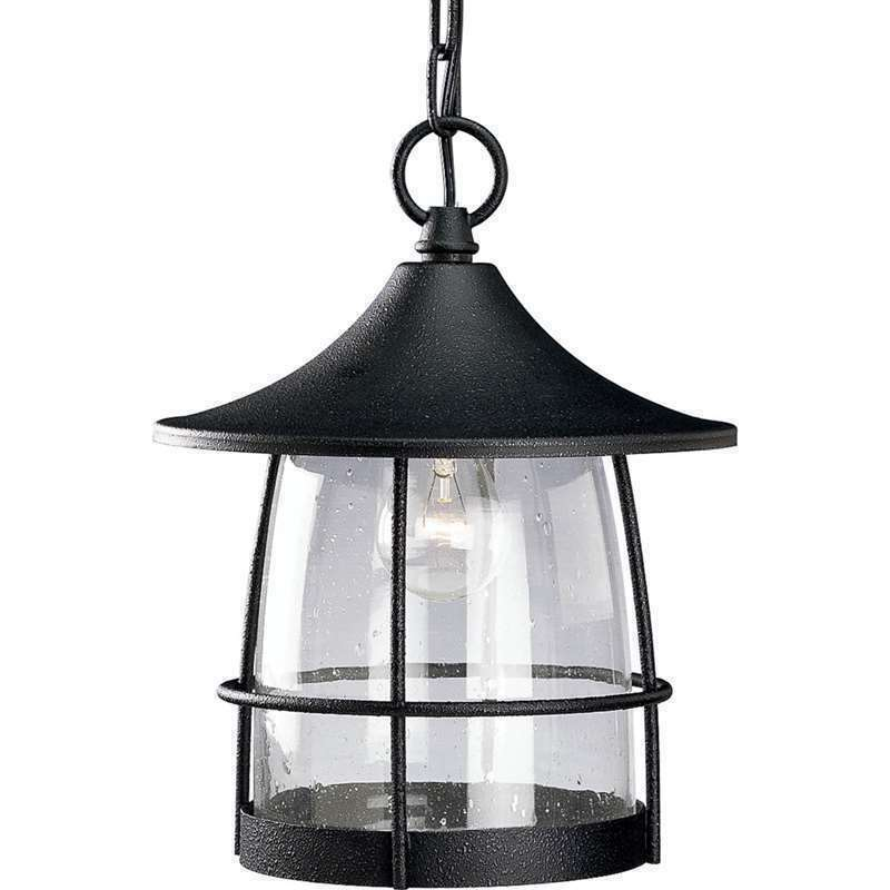 Gilded Iron Finish Outdoor Hanging Lantern Wire Frame Progress Lighting P5563-71