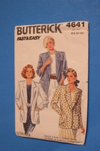Butterick Sewing Pattern 4641 JACKET Loose Fitting Unlined Misses 14-16-... - $8.21