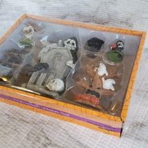 Cemetery Fairy Garden Kit, Miniature Halloween Village Set, Grim Reaper Ghost image 2