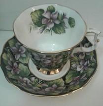 Royal Albert Purple Violet Provincial Flowers Series Teacup and Saucer - $19.46