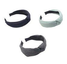 3 PCS Girls Women Headbands Retro Elastic Head Wrap Hairband Headband,A3 - $10.82