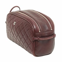 CHANEL Brown Quilted Bowler Bag Cosmetic Bag  Z... - $558.99