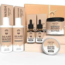 Beard Care Kit - Crafted Beards Ultimate Beard Grooming Bundle - Sandalwood Bour