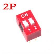 100pcs 2P DIP-Switch 2.54mm Pitch 2 Row 4 Pin - $10.59