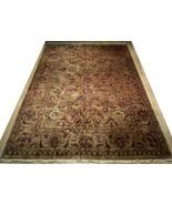 Densely Knotted Genuine Handmade 9 x 13 Brown Jaipur Wool Rug - $3,453.59