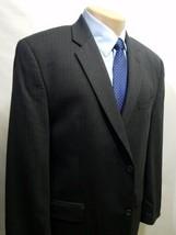 CALVIN KLEIN MACY'S MEN'S SPORT COAT PINSTRIPE BLACK 43R WOOL 122073180 ... - $33.31