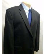 CALVIN KLEIN MACY'S MEN'S SPORT COAT PINSTRIPE BLACK 43R WOOL 122073180 ... - $19.95