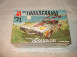Vintage AMT 1971 Ford Thunderbird Bird of paradise 1/25 scale model kit ... - $59.99