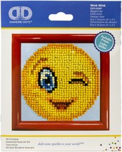 Diamond Dotz Diamond Embroidery Facet Art Kit W/ Frame-Wink Wink W/ Red ... - $14.21