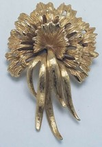 """Vintage Monet Gold Tone Suburst Bow Brooch Pin Large 2.5 x 1.25"""" Signed - $34.95"""