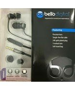 Bell'O - BDH641BK - In-Ear Headphones with Precision Bass - Black - $18.76