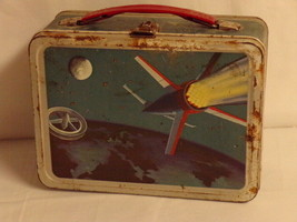 ORIGINAL 1958 Outer Space Satellite Metal Lunch Box - $74.44