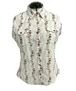 Bits Bridle for her women's top sleeveless flowers brooch front size XL - $11.12
