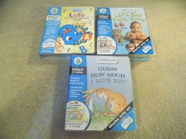 Lot of (3) Leap Frog Little Touch Library Infant Toddler Games-FREE SHIP... - $19.77