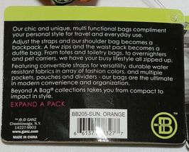 GANZ Brand BB205 Beyond A Bag Three In One Sun Orange Color Expand A Pack image 11