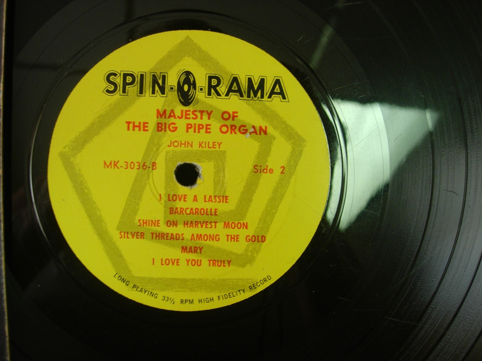 John Kiley -The Majesty of the Big Pipe Organ Vol. II - Spin-O-Rama MK 3036