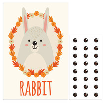 Forest Rabbit Pin The Nose Birthday Party Game - $21.29