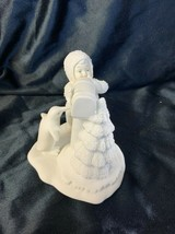 Dept 56 Snowbabies Porcelain You Didn't Forget Me Figurine #6821-7 - $24.99