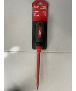 """Milwaukee 48-22-2221 1/4 in Slotted - 6"""" 1000V Insulated Screwdriver - $10.89"""