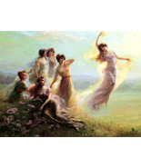 Flowers in the Morning by Edouard Bisson-Semi NUDE Beautiful 8x10 Canvas Print - $15.99