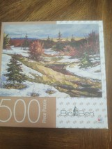 "Big Ben : 500 Piece Spring Landscape Jigsaw Puzzle, 18 x 24"" snow  complete - $7.08"