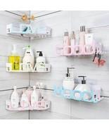 Corner Storage Wall Mounted Plastic Suction Bathroom Shelf Storage Baske... - $25.29
