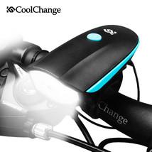 Ultra Bright Electric Bicycle Bell USB Charging Bike Horn Light Headlight Cyc - $23.99