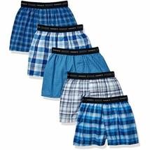 Hanes Boys' Boxer 4 Pack, Tartan, Medium (Colors may vary) - $11.93