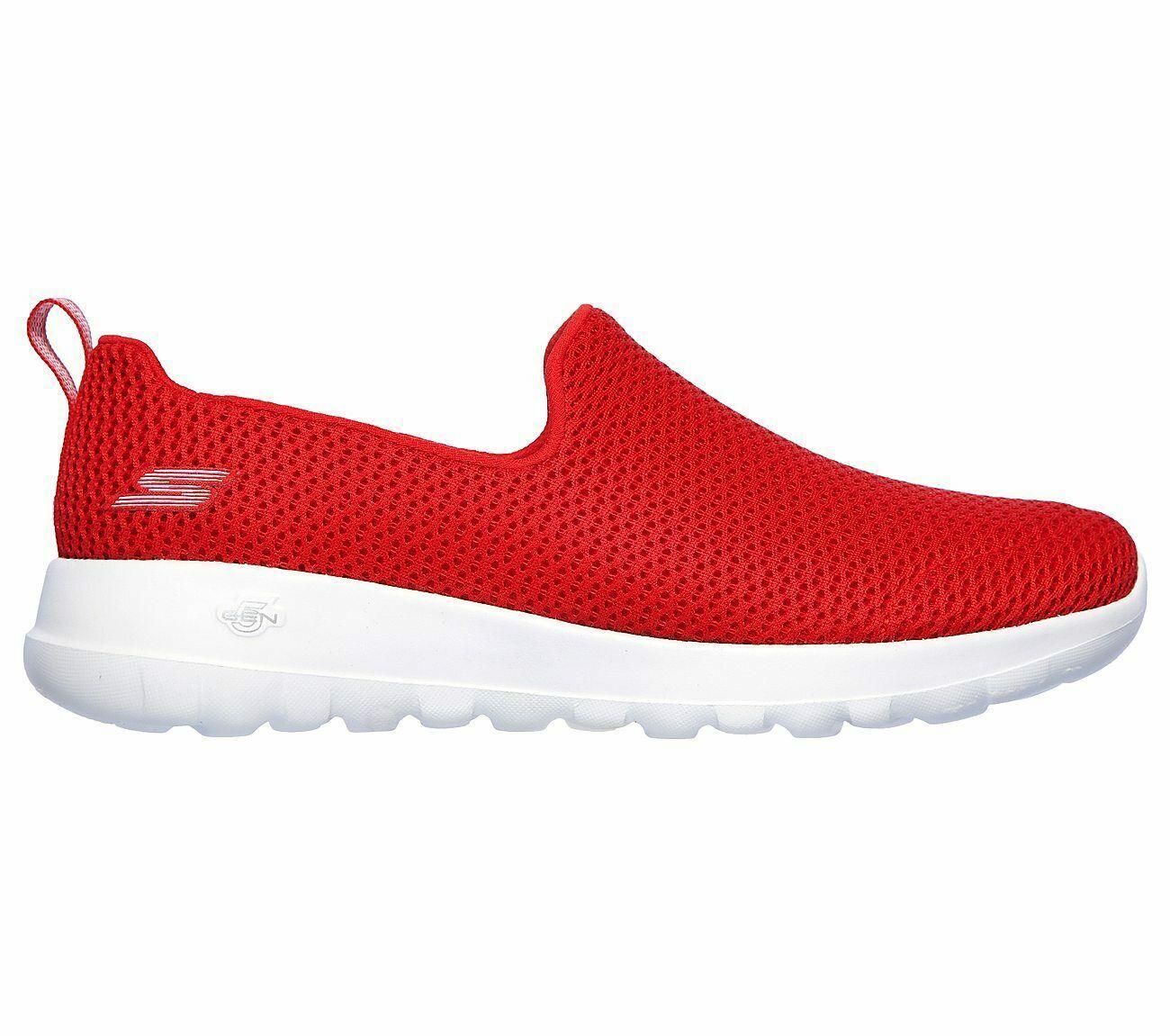 Skechers Shoes Red Go Walk Joy Women Sport Soft Casual Slipon Comfort Mesh 15600 image 2