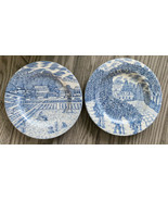 American Atelier At Home Blue Toile 5217 Salad Plates - Set Of 2 - Excel... - $18.70