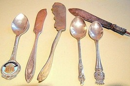 Mixed lot of Antique Silverplated flatwear - $14.85