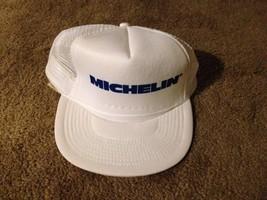 VTG Michelin Trucker Hat Cap Snapback Mesh Tires Car Automobile vintage - $32.67